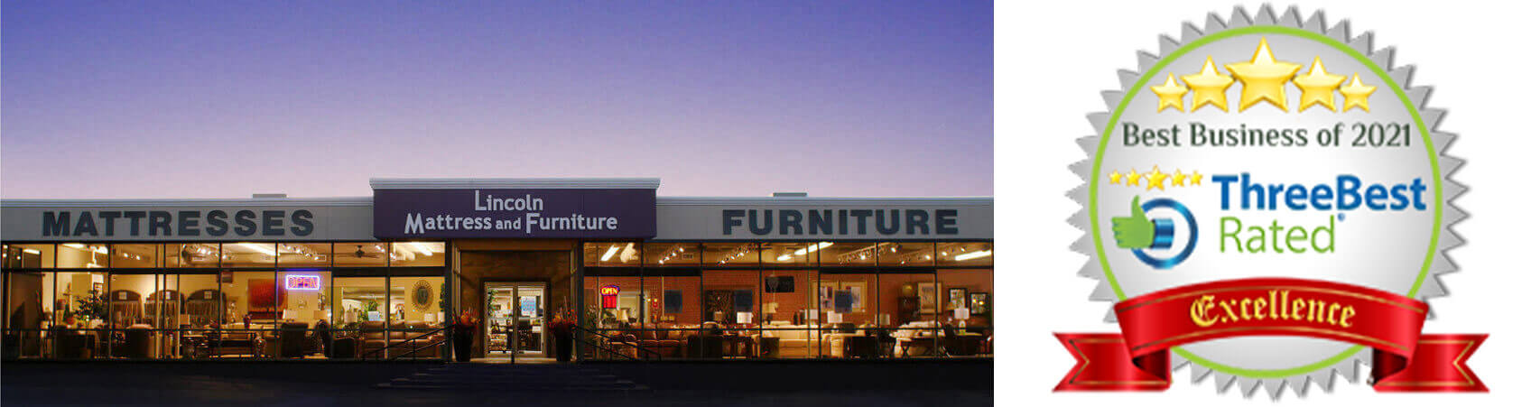 Search Site Lincoln Mattress And Furniture Logo